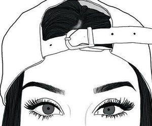 Imagen De Outline Tumblr And Eyes Con Imagenes Dibujos