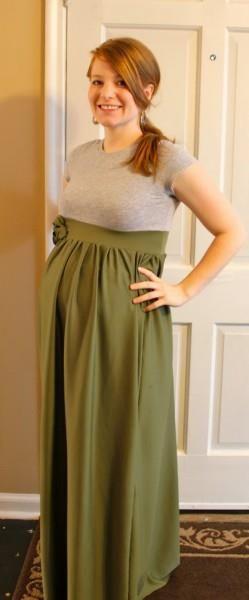 Сшить платье в пол беременной