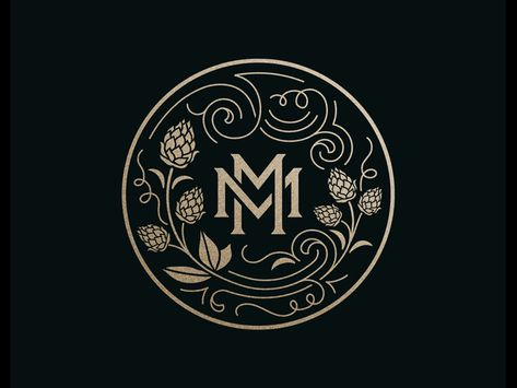 hop bine by Ben Didier on Dribbble Band Logo Design, Designers Gráficos, Logo Simple, Wedding Logos, Personal Logo, Band Logos, Photography Logos, Lettering, Monogram Logo