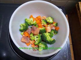 Resepi Bubur Nasi Bersama Salmon Brokoli Carrot Resep Makanan Bayi Brokoli Makanan Bayi