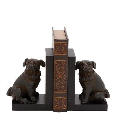 Another great find on #zulily! Pug Dog Bookends #zulilyfinds