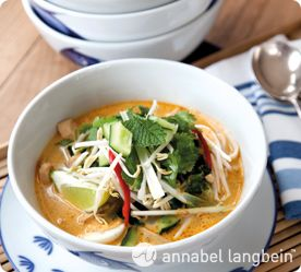 Annabel-Langbein's chicken laksa. Click on the link to my website to see me make this delicious recipe!