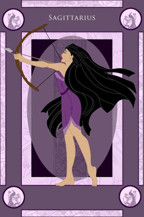 Disney Princess Zodiac - Pocahontas, Sagittarius
