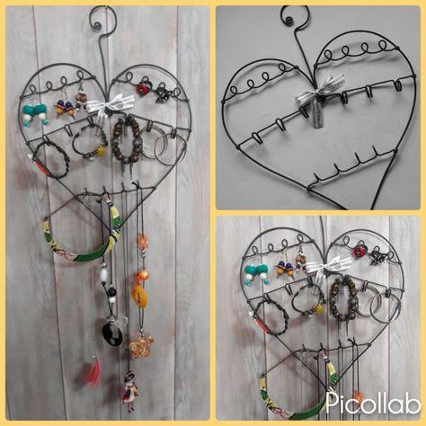 Porte bijoux original et personnalisé, forme de coeur. www