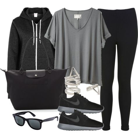 Style #6879 by vany-alvarado on Polyvore featuring rag & bone, Miss Selfridge, American Apparel, NIKE, Longchamp, Forever 21 and Ray-Ban