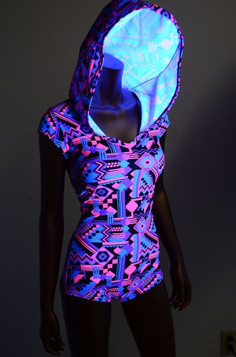 Neon Pink & Black Aztec Geometric Print Cap by CoquetryClothing