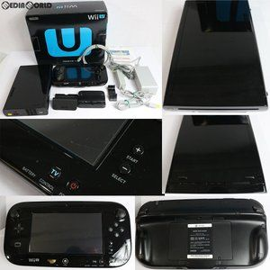 『中古即納』{訳あり}{本体}{WiiU}Wii U プレミアムセット 黒 PREMIUM SET kuro(本体メモリー32GB)(WUP-S-KAFC)(20121208)