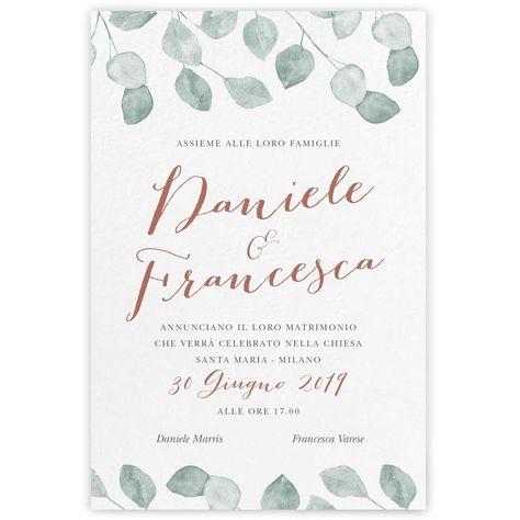 Partecipazioni Matrimonio Varese.Partecipazioni Di Nozze On Line My Wedding Paper