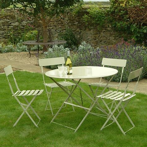 small round table and 2 chairs bistro set in blue garden furniture rh pinterest co uk