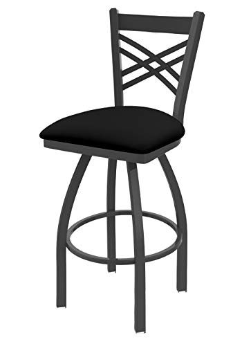 Holland Bar Stool Company 820 Catalina 25 Inch Counter Stool With Pewter Finish Black Vinyl Seat And Bar Stools