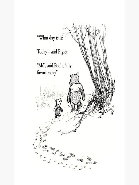 """""""Winnie The Pooh Quotes To Fill Your Heart With Joy"""" Poster by gnjskad 