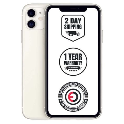 Iphone 11 White 256gb Unlocked Ecommsell 12 Month Warranty Included Free 2 Day Shipping Amazing Customer Support Iphone 11 Iphone Refurbished Apple