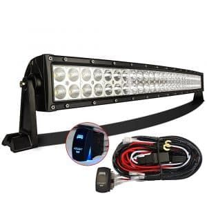 Top 10 Best Led Light Bars In 2019 Hqreview Curved Led Light Bar Led Light Bars Led Trailer Lights