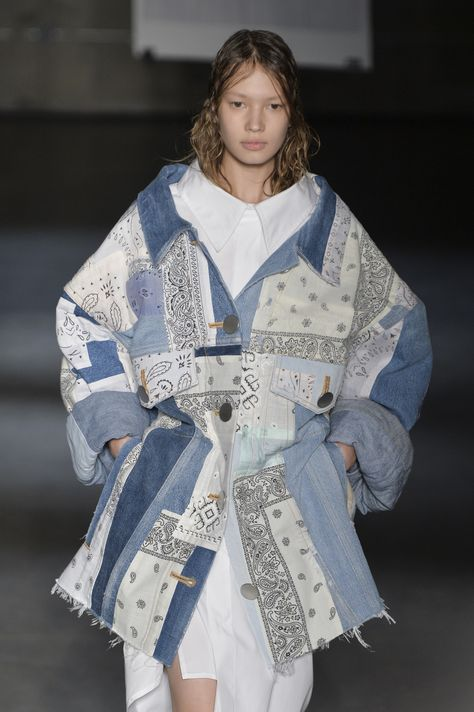 More patchwork denim showing up at by Maison Margiela