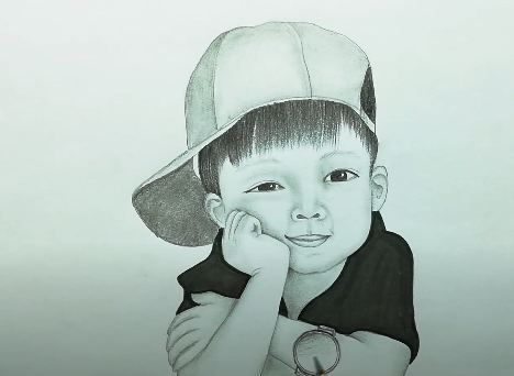 How To Draw A Cute Boy For Beginners Baby Boy Pencil Sketch Drawing In 2020 Pencil Sketch Drawing Cute Boy Drawing Drawing For Beginners