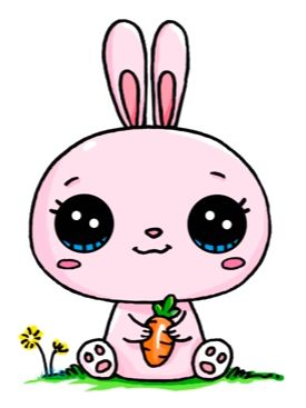 Coniglietto rosa kawaii