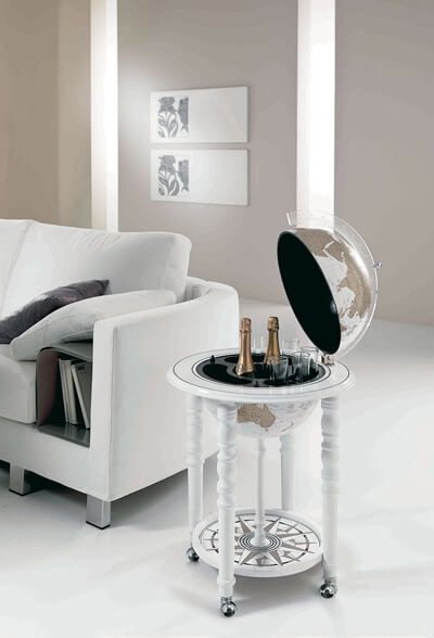 White Globe Bar Globe Drinks Cabinet White Dining Room Globe Bar