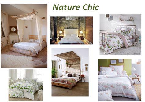 nature chic, idée, déco, linge de lit, chambre, fleuri | décor