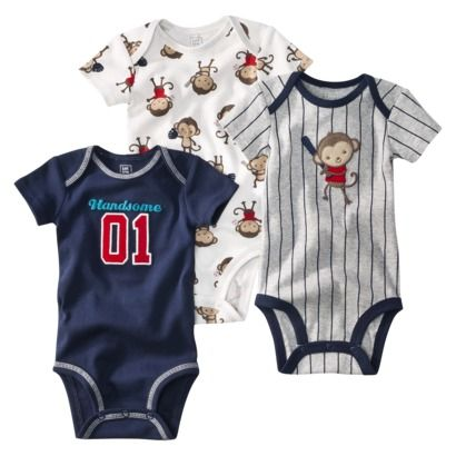 JUST ONE YOU  Made by Carters ® Infant Boys 3 Pack Bodysuit Set - Navy.  Tam: RN a 24 meses.  Precio: $8.99