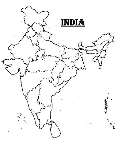 india political map outline with states and capitals Map Of India With States And Capitals Names In 2020 India Map india political map outline with states and capitals