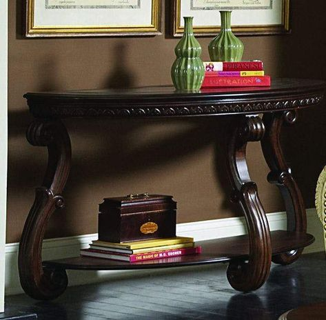 Wood Sofa Table With An Open Shelf Cherry Brown Wood Sofa Table Wooden Console Table Wooden Console