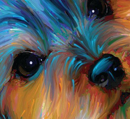 Jaxon The Yorkie Bookmark Yorkshireterrier Dog Paintings Art