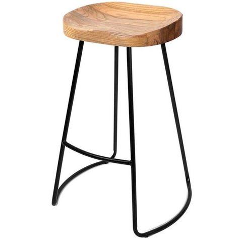 75cm Industrial Moulded Backless Barstools (Set of 2)
