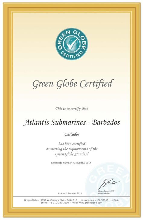 Green Globe Certification Our Commitment To Ensuring We