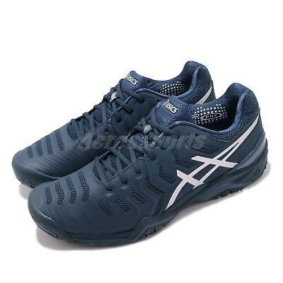 Asics Gel Resolution Novak Djokovic Navy Silver Men Tennis Shoes E805n 400 Fashion Clothing Shoes Accessorie In 2020 Mens Tennis Shoes Badminton Shoes Tennis Shoes