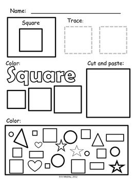 Super Simple Math Shape Worksheets 2d Shapes No Prep Shapes