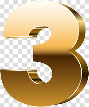 Golden Number Three Transparent Png Clip Art Image Golden Number Art Images Clip Art