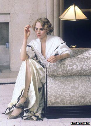 """Valerie Saintclair (Niamh Cusack) in Agatha Christie: Poirot The King of Clubs (1989). Image from """"Goodbye to the splendid 1930s world of Poirot,"""" by Finlo Rohrer BBC News Magazine"""