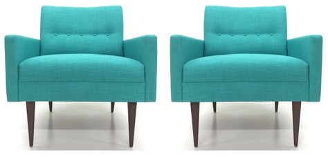 Pair Of Cosmo Club Chairs By Atomic Chair Co Www