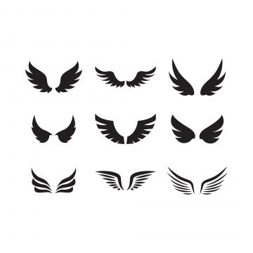 Set Of Wing Icon Design Vector Wing Clipart Wing Icon Png And Vector With Transparent Background For Free Download Wings Icon Icon Set Design Icon Design