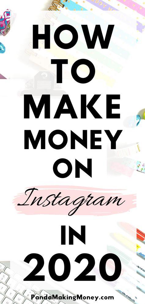 How To Make Money On Instagram In 2020   Panda Making Money
