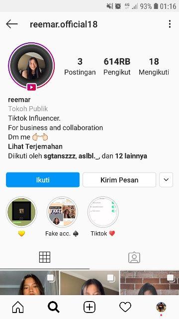 Musdeoranje Net Akun Instagram Reemar Martin Yang Asli Real Publik Pesiar Instagram
