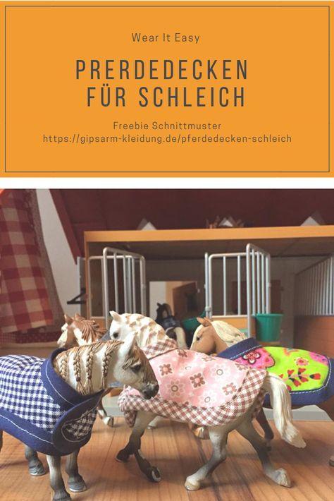 Decken Fur Schleichpferde Inkl Freebie Schnittmuster Pferdedecke Schleich Pferde Schnittchen