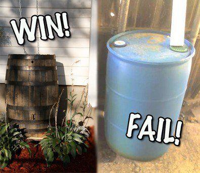 Pretty Rain Barrels 3 Cheap Diy Rain Barrels That Actually Look Nice Rain Barrel Rain Water Collection Rainwater Harvesting