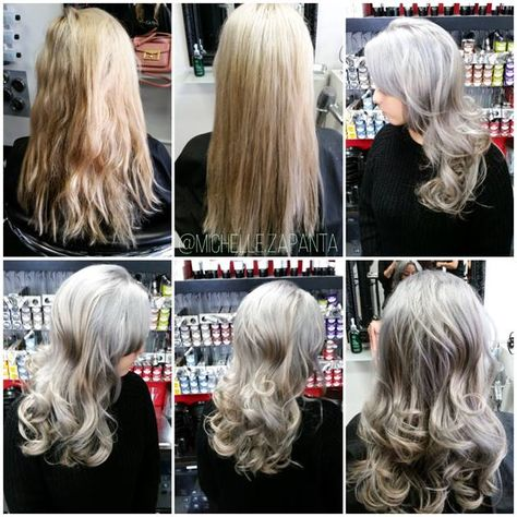 How To Silver Ash Blonde Silver Blonde Hair Ash Blonde Silver Blonde