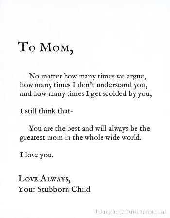 Love You Mommy Quotes Amusing I Love This Quotei'm Thinking About Writing Something Specail
