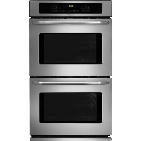 Frigidaire 30 Electric Double Wall Oven Silver Em155736