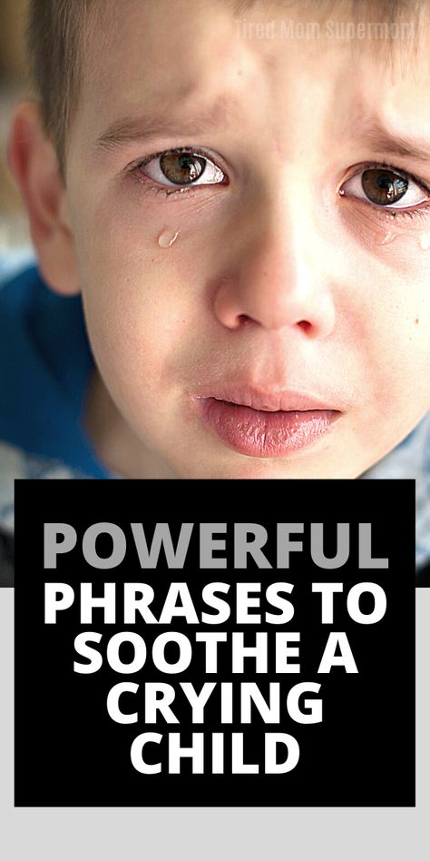 What to say to an upset child (Parenting)