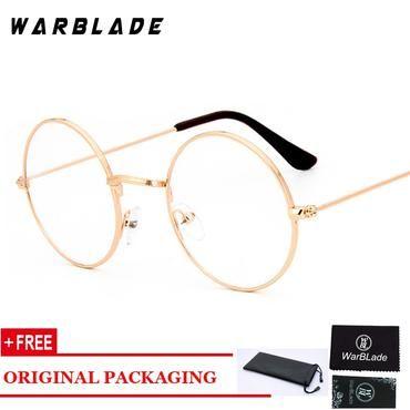 cedff3fd9bd Gold round clear glasses eye glasses frame women men glasses transparent  round fashion nerd myopia optical korean glasses oculos