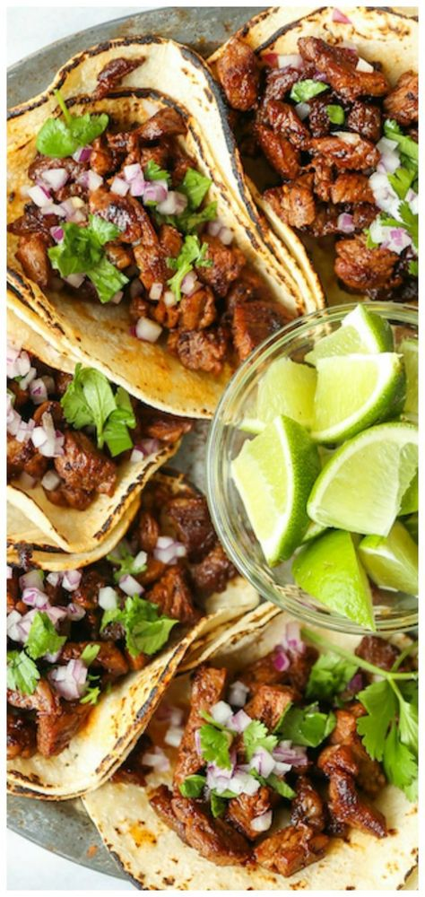 Mexican Street Tacos ~ Easy, quick, authentic carne asada street tacos you can now make right at home! Mexican Street Tacos ~ Easy, quick, authentic carne asada street tacos you can now make right at home! Beef Recipes, Cooking Recipes, Healthy Recipes, Easy Mexican Recipes, Authentic Mexican Recipes, Carne Asada Recipes Easy, Authentic Food, Healthy Food, Thai Recipes