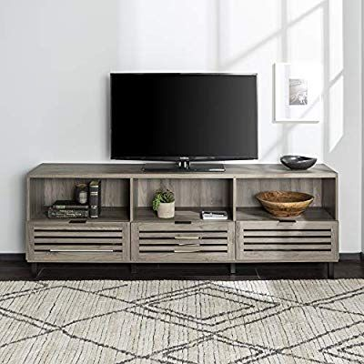 We Furniture Az70jacsdsg Tv Stand 70 Quot Slate Grey Furniture Placement Living Room Living Room Tv Stand