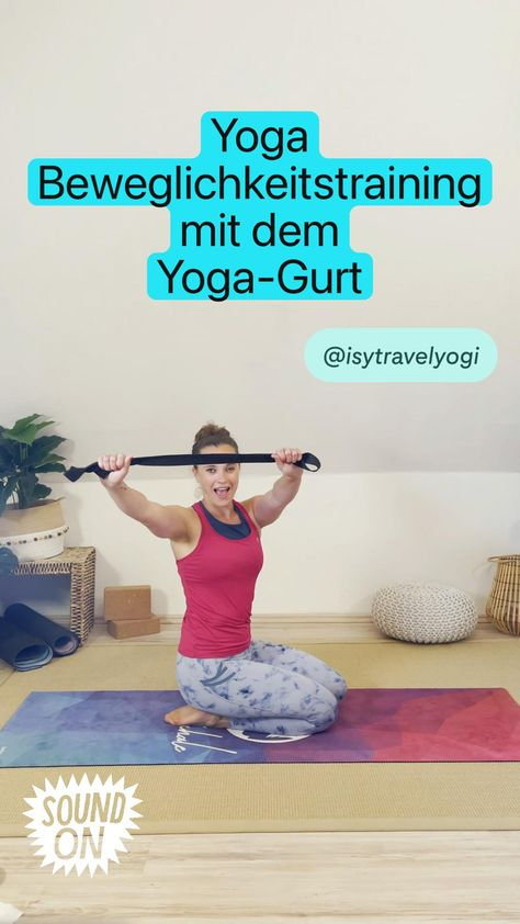 Yoga  Beweglichkeitstraining mit dem  Yoga-Gurt