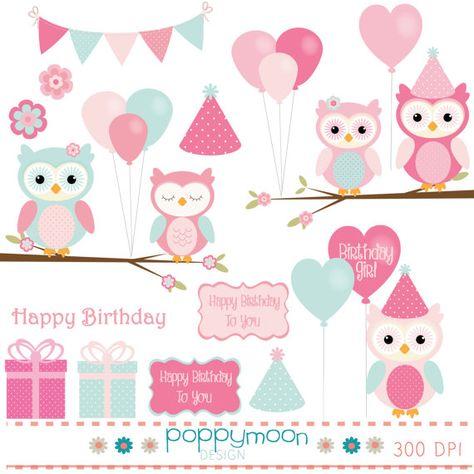 Legen Sie Die Eule Geburtstag Pink Und Aqua Von Poppymoondesign