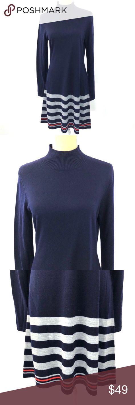 400fdc5ce33 Cynthia Rowley Merino Wool Striped Sweater Dress Cynthia Rowley Extra Fine  Merino Wool Striped Sweater Dress