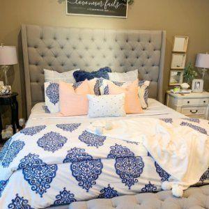 Asher Medallion Organic Percale Duvet Cover Amp Shams Twilight Bed Linen Design Organic Duvet Covers Duvet Cover Pattern
