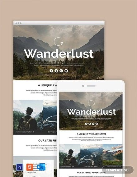 Travel Email Newsletter Template Free Outlook Html5 Psd Template Net Email Newsletter Template Newsletter Templates Email Marketing Template